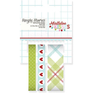 Washi Tape Mistletoe Kisses
