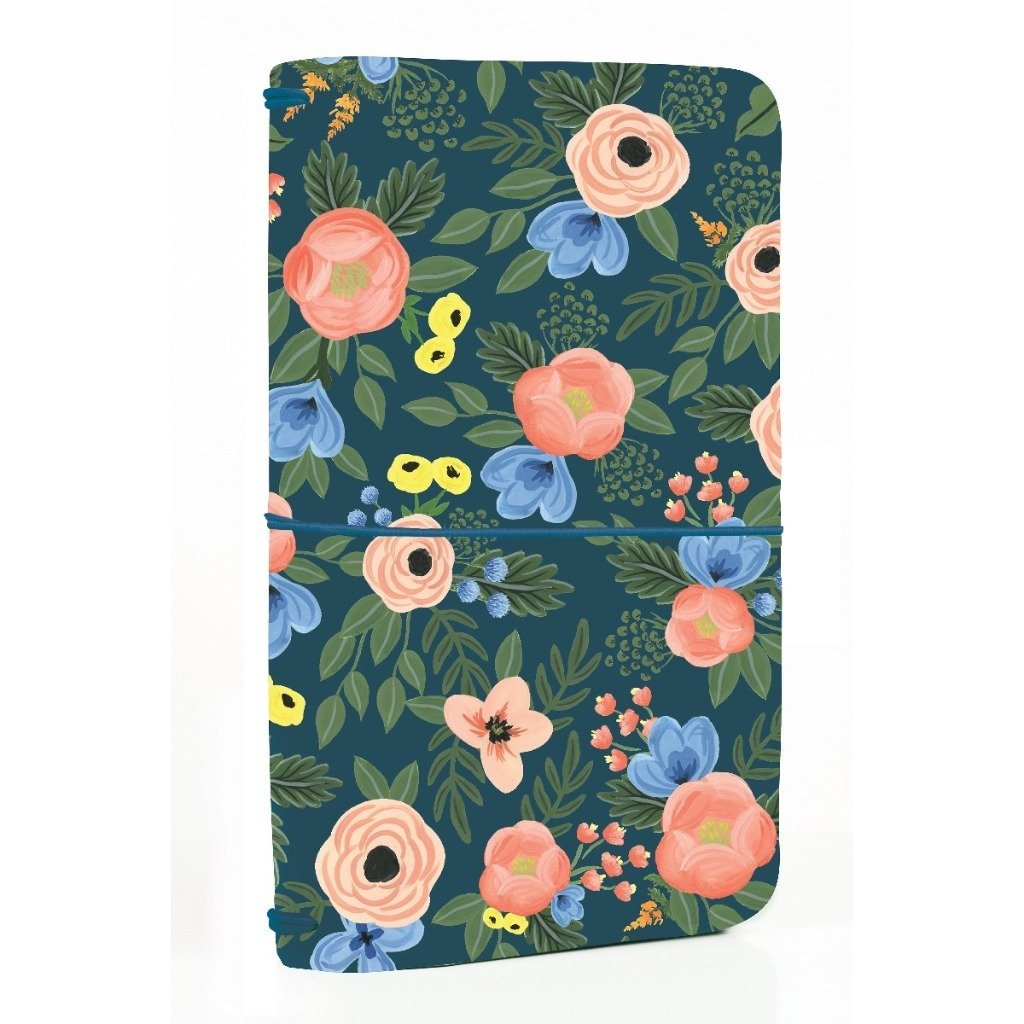 Funda Navy Floral Travelers Notebook
