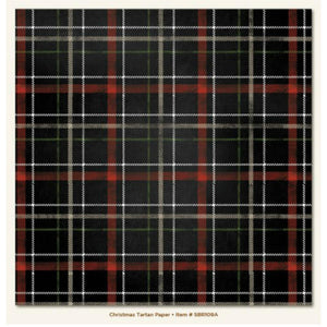 Papel Christmas Tartan Sleigh Bells Ring.