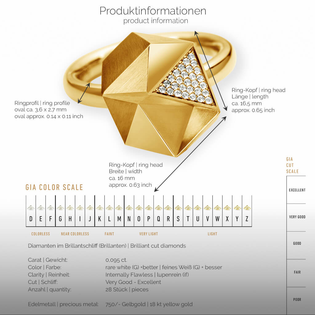 Tectone | Produktinformation - Ring - 750/- Gelbgold - Diamanten-Brillanten | product-information - ring - 18kt yellow gold - diamonds | SYNO-Schmuck.com