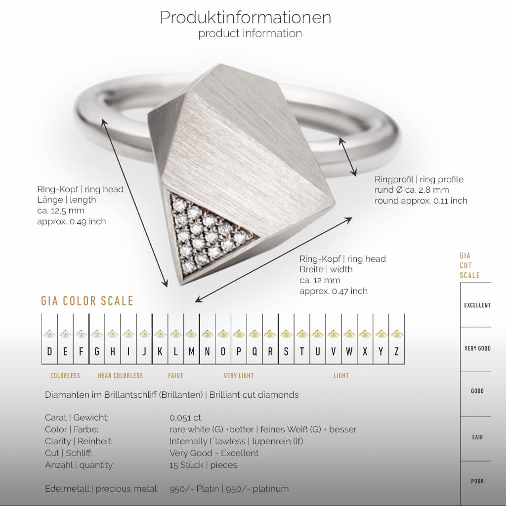 UFO | Produktinformationen - Ring - 950/- Platin - Diamanten/Brillanten | product-information - ring - 950/- platinum - diamonds | SYNO-Schmuck.com