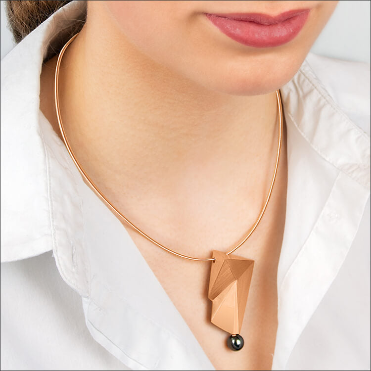 Cyllene | Collier, Kette, Kettenanhänger - 750 Roségold, Tahitiperle | necklace, pendant - 18kt rose gold, tahitian pearl | SYNO-Schmuck.com
