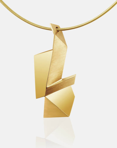 Cryptone | Collier, Kette, Kettenanhänger - 750 Gelbgold | necklace, pendant - 18kt yellow gold | SYNO-Schmuck.com