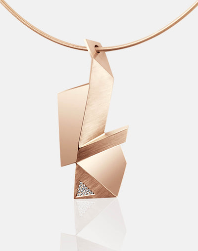Cryptone | Collier, Kette, Kettenanhänger - 750 Roségold, Diamanten-Brillanten | necklace, pendant - 18kt rose gold, diamonds | SYNO-Schmuck.com