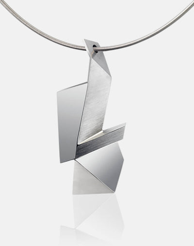 Cryptone | Collier, Kette, Kettenanhänger - 750 Weissgold | necklace, pendant - 18kt white gold | SYNO-Schmuck.com