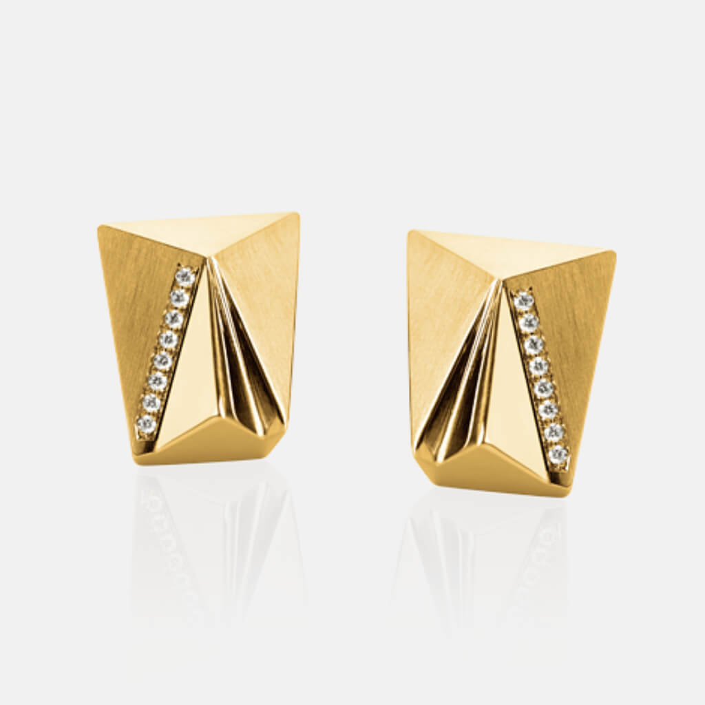 Cyllena | Ohrringe, Ohrstecker - 750 Gelbgold, Diamanten-Brillanten | ear-studs, earrings - 18kt yellow gold, diamonds | SYNO-Schmuck.com