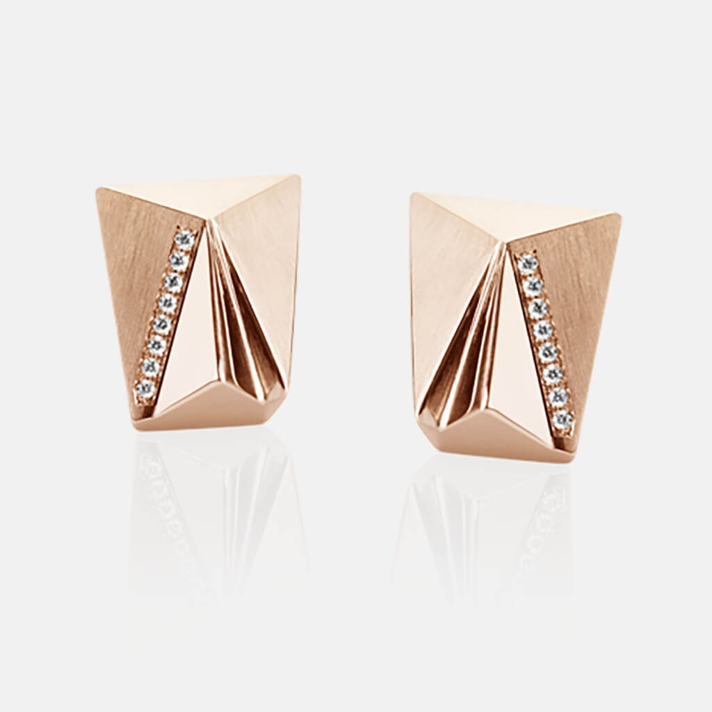 Cyllena | Ohrringe, Ohrstecker - 750 Roségold, Diamanten-Brillanten | ear-studs, earrings - 18kt rose gold, diamonds | SYNO-Schmuck.com