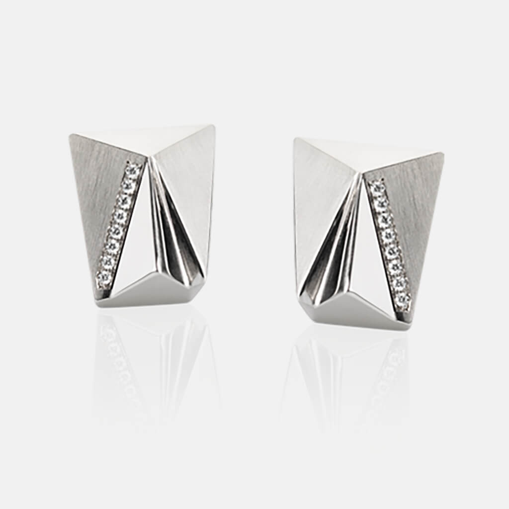 Cyllena | Ohrringe, Ohrstecker - 950 Platin, Diamanten-Brillanten | ear-studs, earrings - 950 platinum, diamonds | SYNO-Schmuck.com