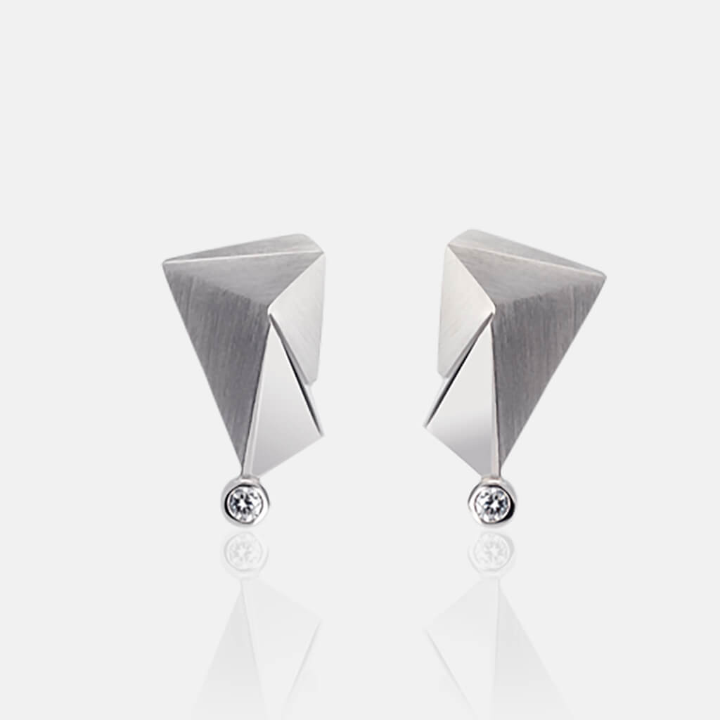 Cyllene | Ohrringe, Ohrstecker - 750 Weissgold, Diamanten-Brillanten | ear-studs, earrings - 18kt white gold, diamonds | SYNO-Schmuck.com