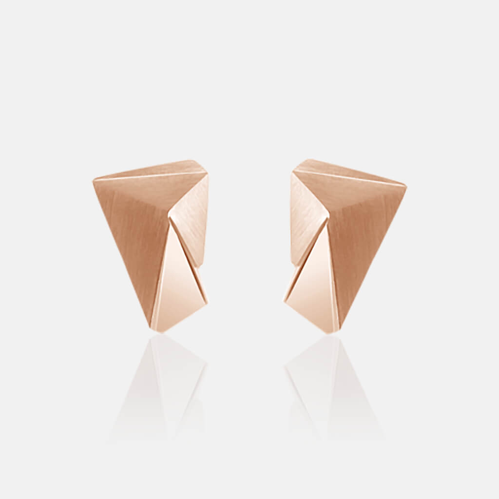 Cyllene | Ohrringe, Ohrstecker - 750 Roségold, Diamanten-Brillanten | ear studs, earrings, 18kt rose gold, diamonds | SYNO-Schmuck.com