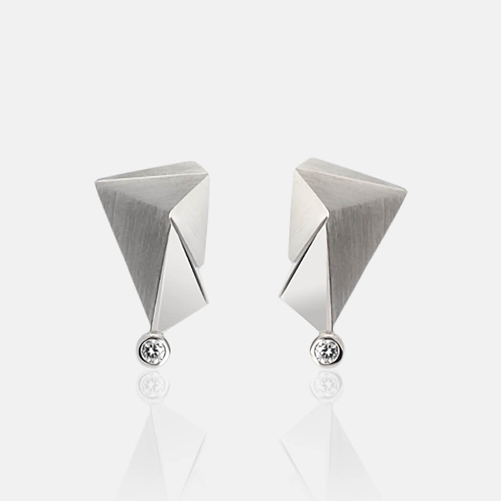 Cyllene | Ohrringe, Ohrstecker - 950 Platin, Diamant-Brillant | ear-studs, earrings, 950 patinum, diamonds | SYNO-Schmuck.com