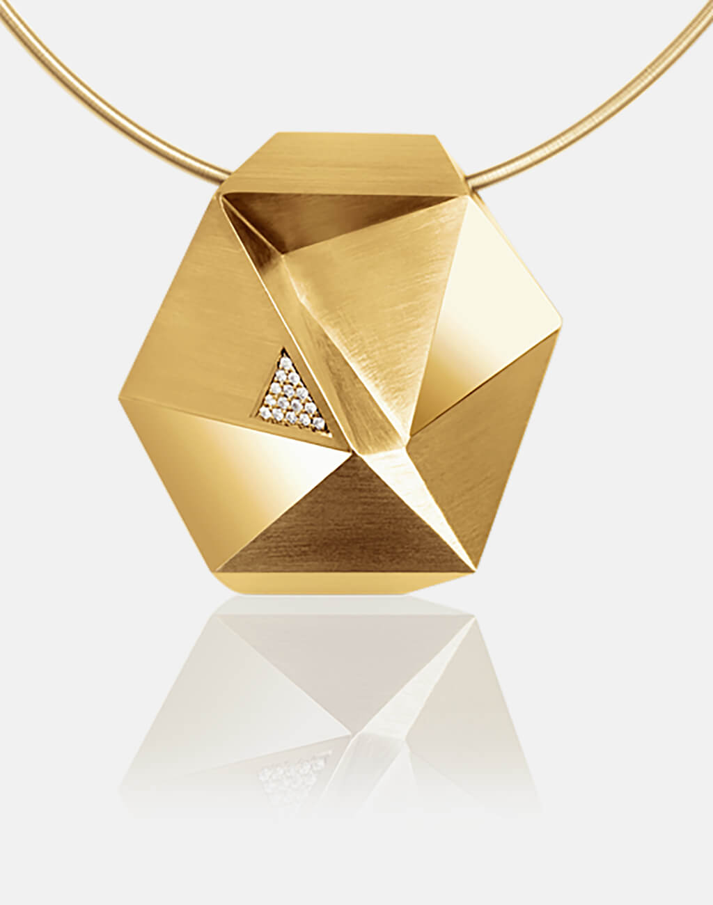 Tectone | Collier, Kette, Kettenanhänger - 750/- Gelbgold, Diamanten-Brillanten | necklace, pendant - 18kt yellow gold, diamonds | SYNO-Schmuck.com