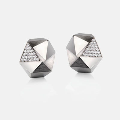 Tectone | Ohrringe, Ohrstecker - 750 Weissgold, Diamanten-Brillanten | ear-studs, earrings - 18kt white gold, diamonds | SYNO-Schmuck.com