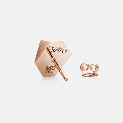 Tectone | Ohrringe, Ohrstecker, Gravur - 750 Roségold | ear-studs, earrings, engraving - 18kt rose gold | SYNO-Schmuck.com