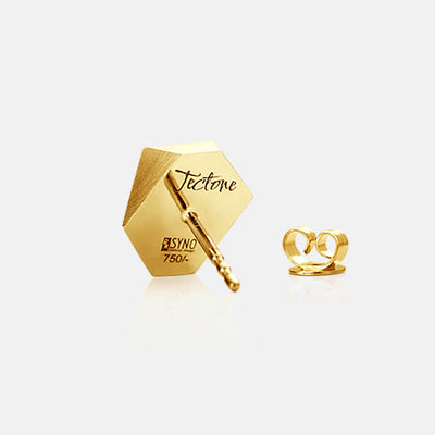 Tectone | Ohrringe, Ohrstecker, Gravur - 750 Gelbgold | ear-studs, earrings, engraving - 18kt yellow gold | SYNO-Schmuck.com
