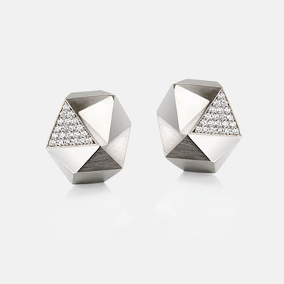 Tectone | Ohrringe, Ohrstecker - 950 Platin, Diamanten-Brillanten | ear-studs, earrings - platinum, diamonds | SYNO-Schmuck.com