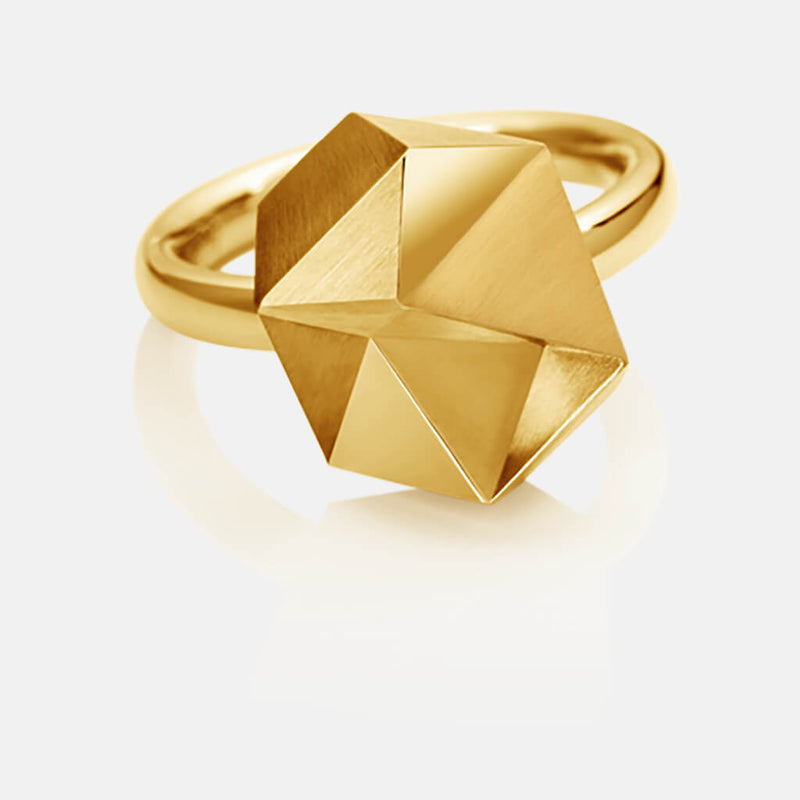 Tectone | Ring - 750 Gelbgold, Diamanten-Brillanten | ring - 18kt yellow gold, diamonds | SYNO-Schmuck.com