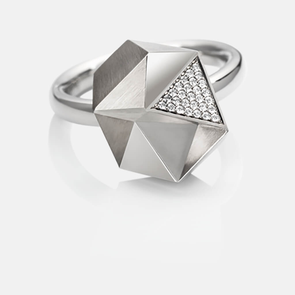 Tectone | Ring - 950 Platin, Diamanten-Brillanten | ring - platinum, diamonds | SYNO-Schmuck.com