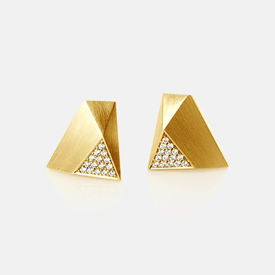 Ufo | Ohrringe, Ohrstecker - 750 Gelbgold, Diamanten-Brillanten | ear-studs, earrings - 18kt yellow gold, diamonds | SYNO-Schmuck.com
