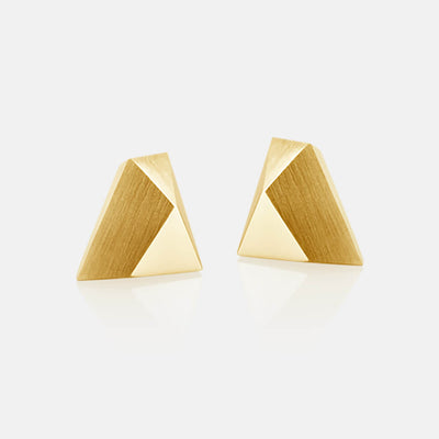 Ufo | Ohrringe, Ohrstecker - 750 Gelbgold | ear-studs, earrings - 18kt yellow gold | SYNO-Schmuck.com