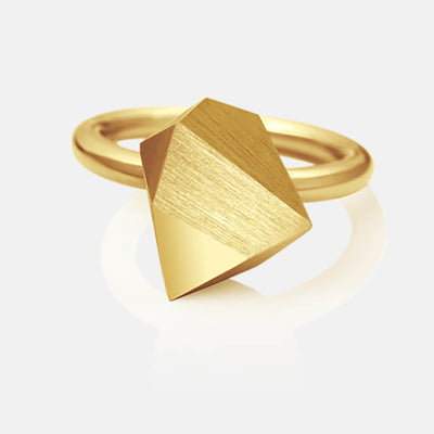 Ufo | Ring - 750 Gelbgold | ring - 18kt yellow gold | SYNO-Schmuck.com