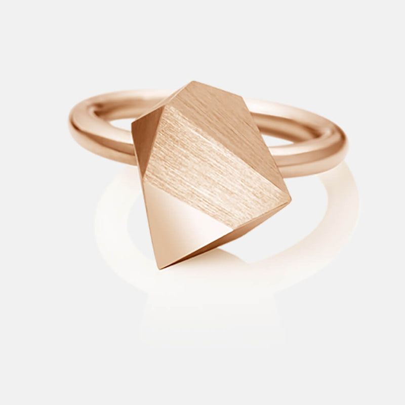 Ufo | Ring - 750 Roségold, Diamanten-Brillanten | ring - 18kt rose gold, diamonds | SYNO-Schmuck.com