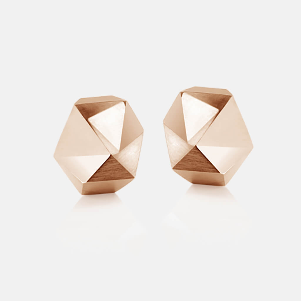 Tectone | Ohrringe, Ohrstecker 750/- Rosegold | ear studs, earrings, 18kt rose gold | SYNO-Schmuck.com