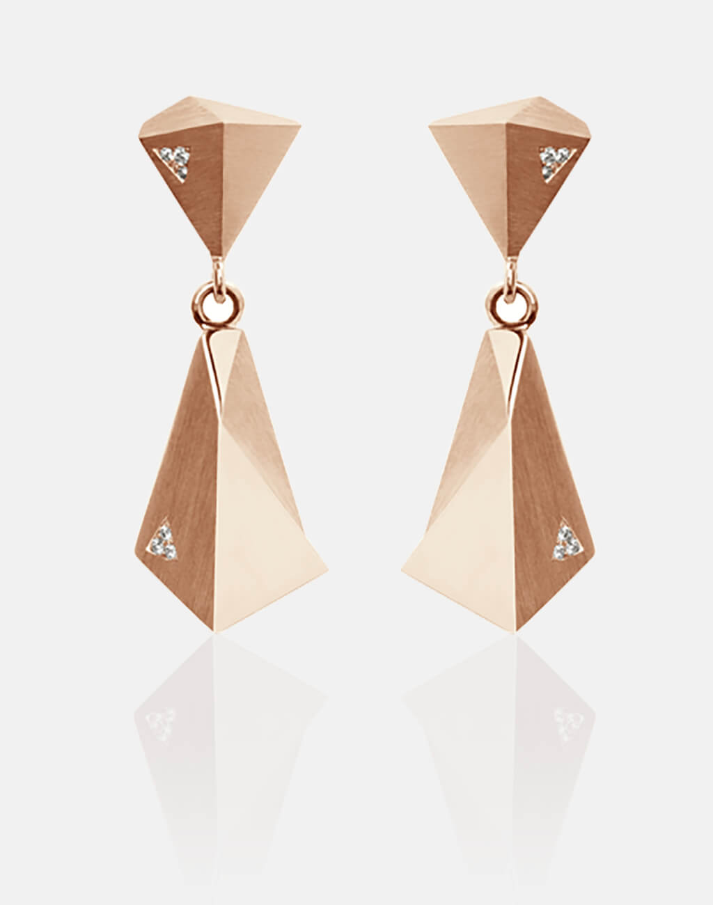 Stealth | Ohrringe, Ohrhänger 750/- Rosegold, 12 Brillanten, Diamanten | earrings 18kt rose gold, diamonds | SYNO-Schmuck.com