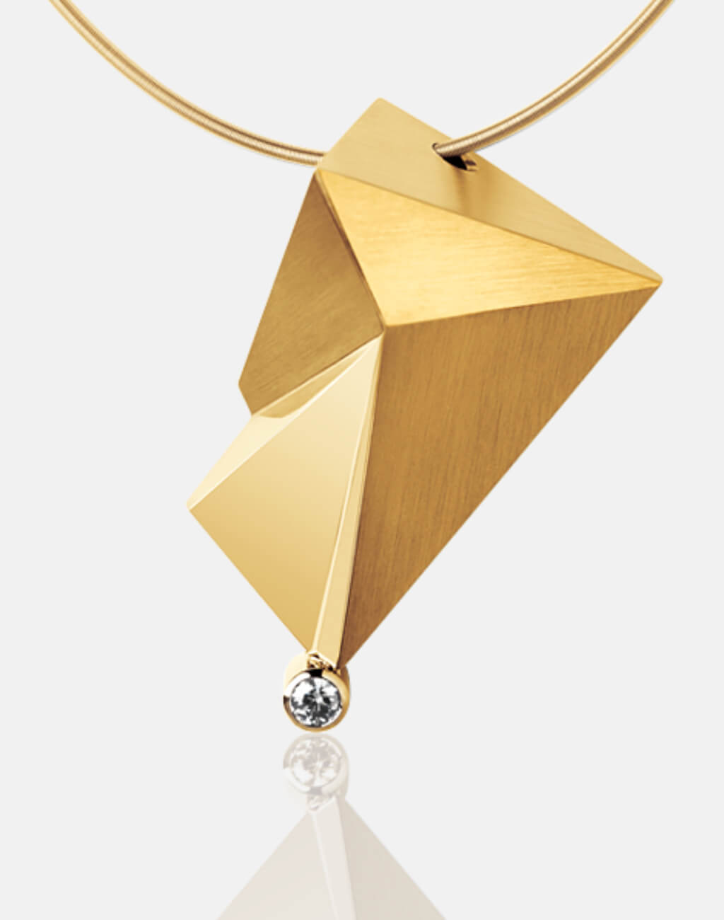 Cyllene | Collier, Kettenanhänger, Kette, 750/- Gelbgold, Brillant, Diamant | necklace, pendant, 18kt yellow gold, diamond | SYNO-Schmuck.com