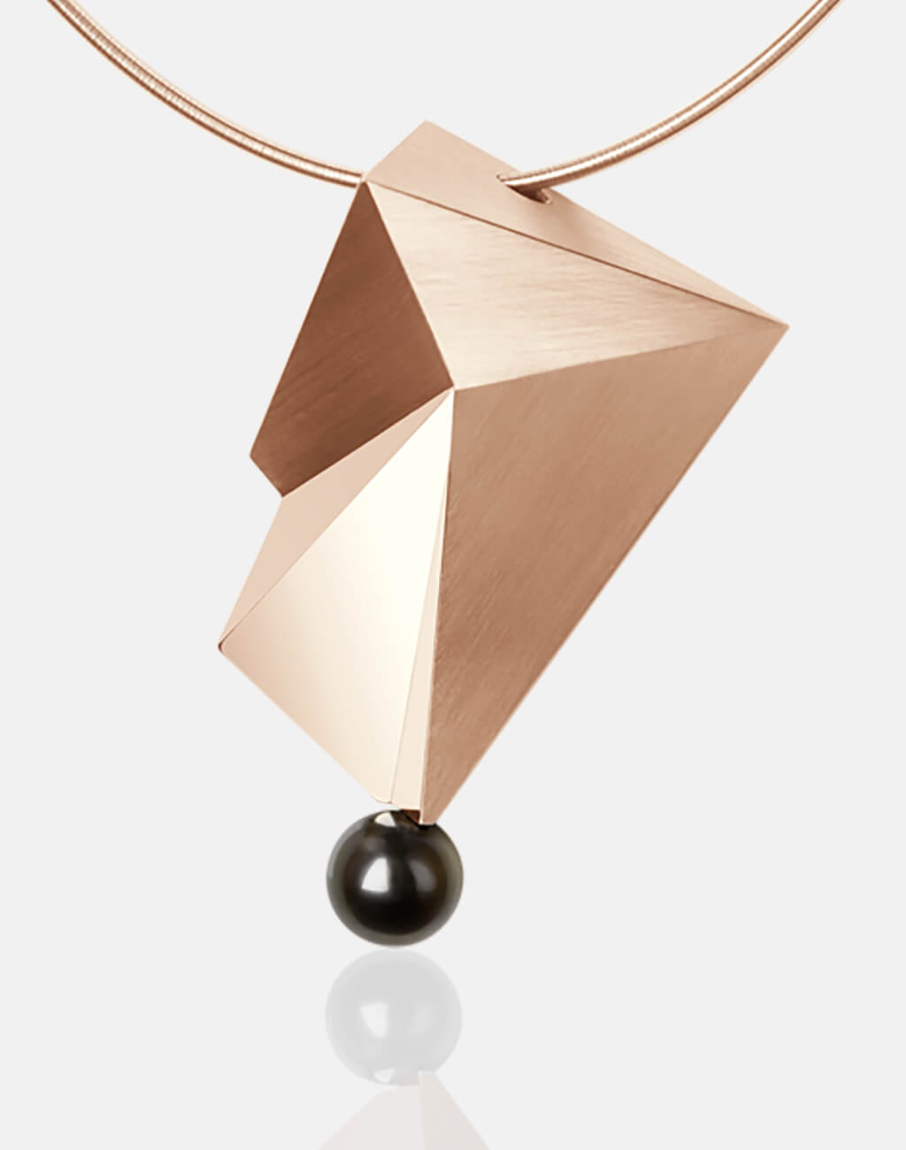 Cyllene | Collier, Kettenanhänger, Kette, 750/- Rosegold, Tahitiperle | necklace, pendant, 18kt rose gold, tahitian pearl | SYNO-Schmuck.com