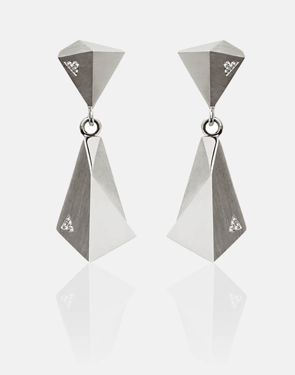 Stealth | Ohrringe, Ohrhänger, 950/- Platin, 12 Brillanten, Diamanten | earrings, 950/- platinum, diamonds | SYNO-Schmuck.com