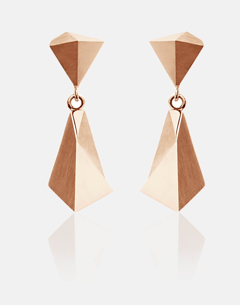 Stealth | Ohrringe, Ohrhänger 750/- Rosegold | earrings, ear studs 18kt rose gold | SYNO-Schmuck.com