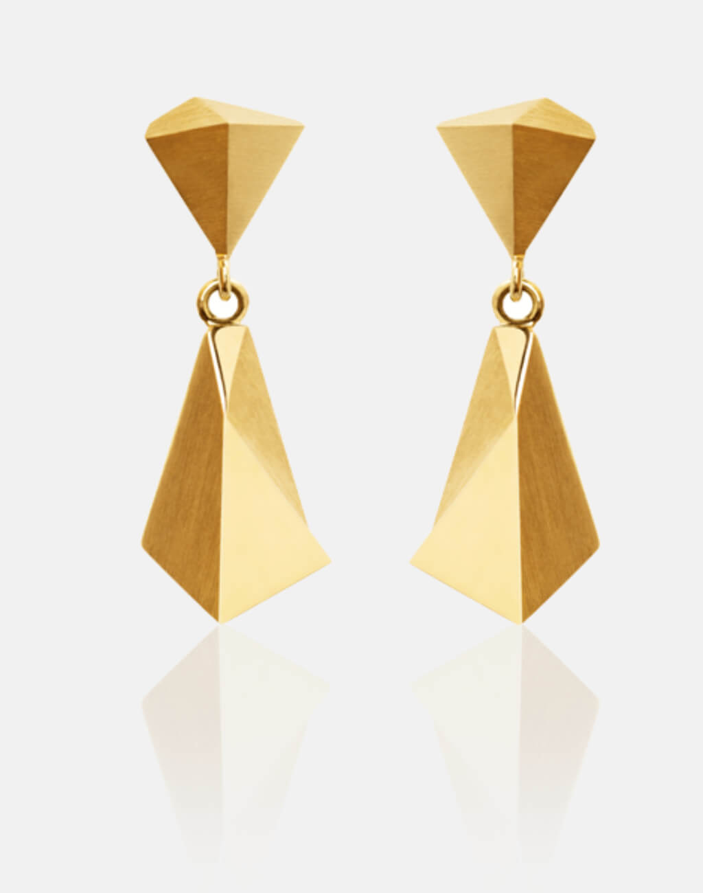 Stealth | Ohrringe, Ohrhänger 750/- Gelbgold | earrings 18kt yellow gold | SYNO-Schmuck.com