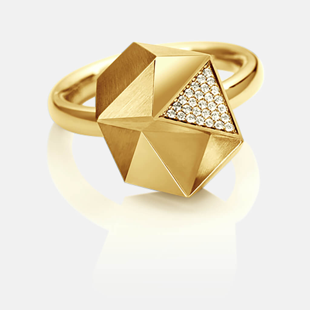 Tectone | Ring, 750/- Gelbgold, Brillanten, Diamanten | ring, 18kt yellow gold, diamonds | SYNO-Schmuck.com