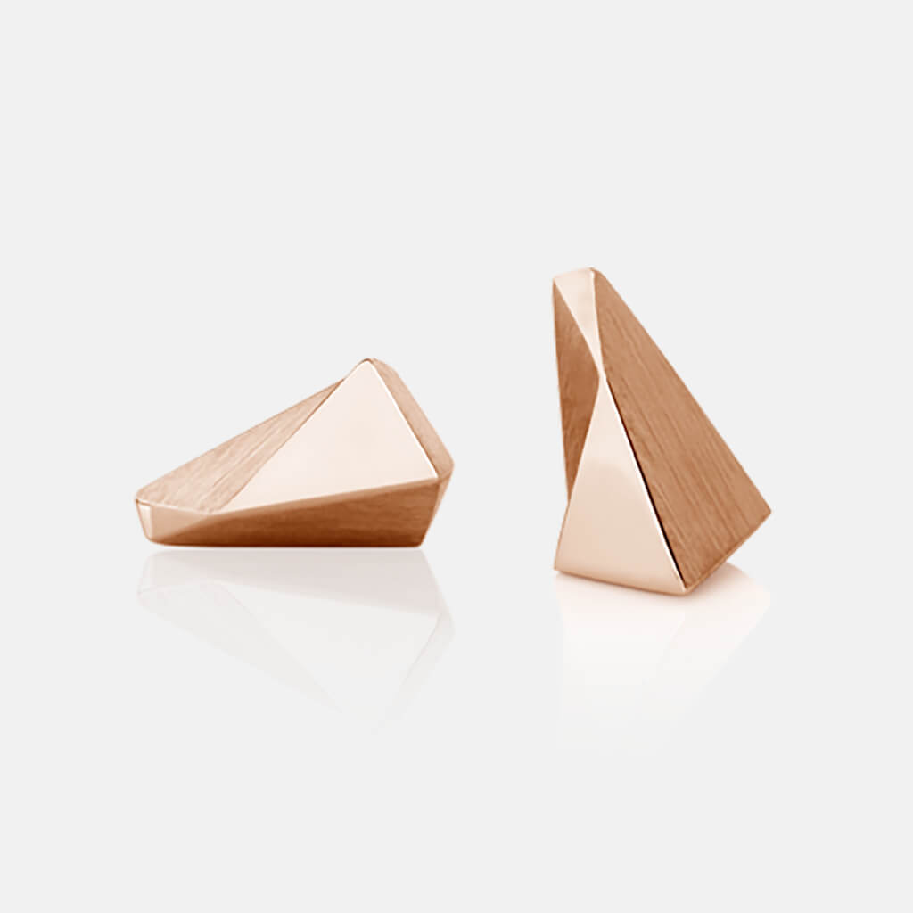 Stealth | Ohrstecker, Ohrringe 750/- Rosegold | ear studs, earrings, 18 kt rose gold | SYNO-Schmuck.com