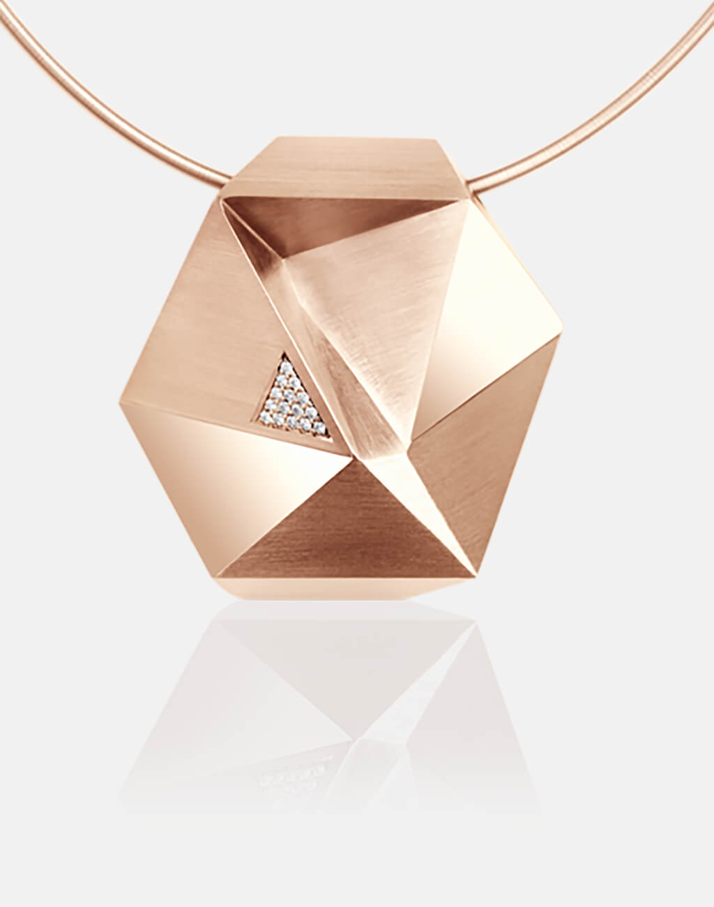 Tectone | Collier, Kettenanhänger, Kette 750/- Rosegold, Brillanten, Diamanten | necklace, pendant 18kt rose gold, diamonds | SYNO-Schmuck.com