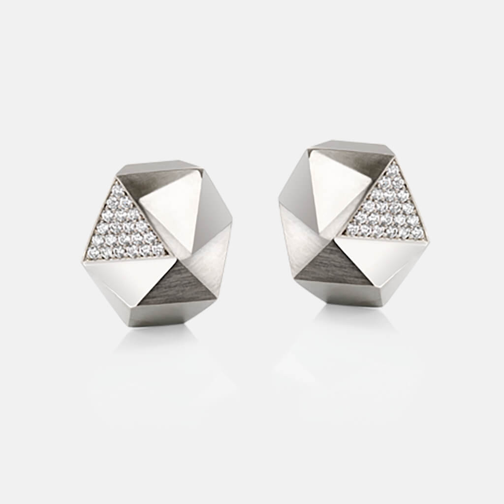 Tectone | Ohrringe, Ohrstecker 950/- Platin, Brillanten, Diamanten | ear studs, earrings 950/- platinum, diamonds | SYNO-Schmuck.com