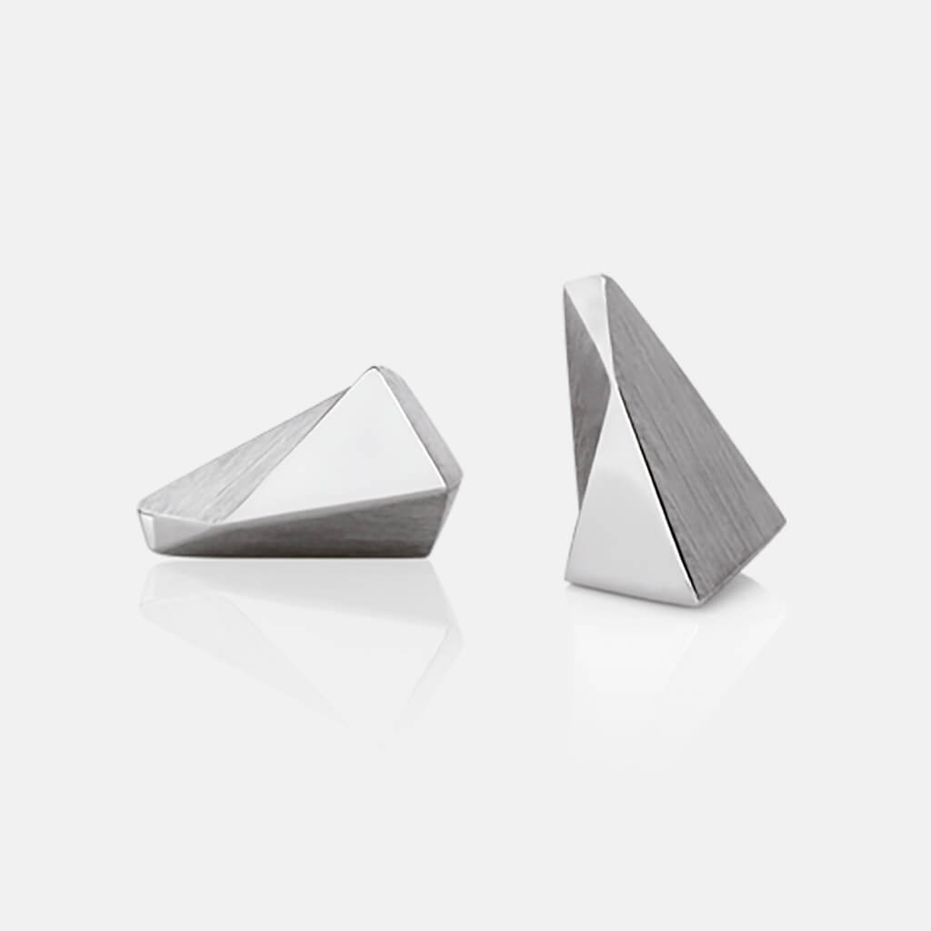 Stealth | Ohrstecker, Ohrringe 750/- Weissgold | ear studs, earrings, 18kt white gold | SYNO-Schmuck.com