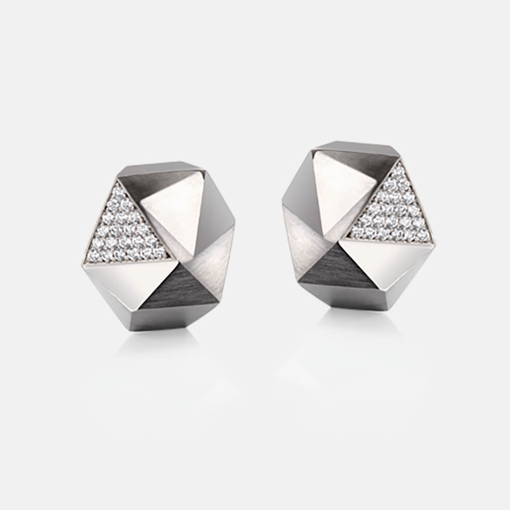 Tectone | Ohrringe, Ohrstecker, 750/- Weissgold, Brillanten, Diamanten | ear studs, earrings, 18kt white gold, diamonds | SYNO-Schmuck.com