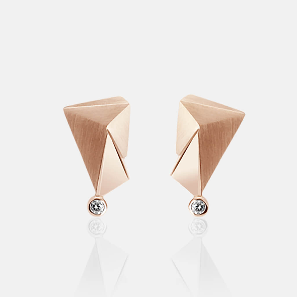 Cyllene | Ohrringe, Ohrstecker, 750/- Rosegold, Brillanten, Diamanten | ear studs, earrings, 18kt rose gold, diamonds | SYNO-Schmuck.com