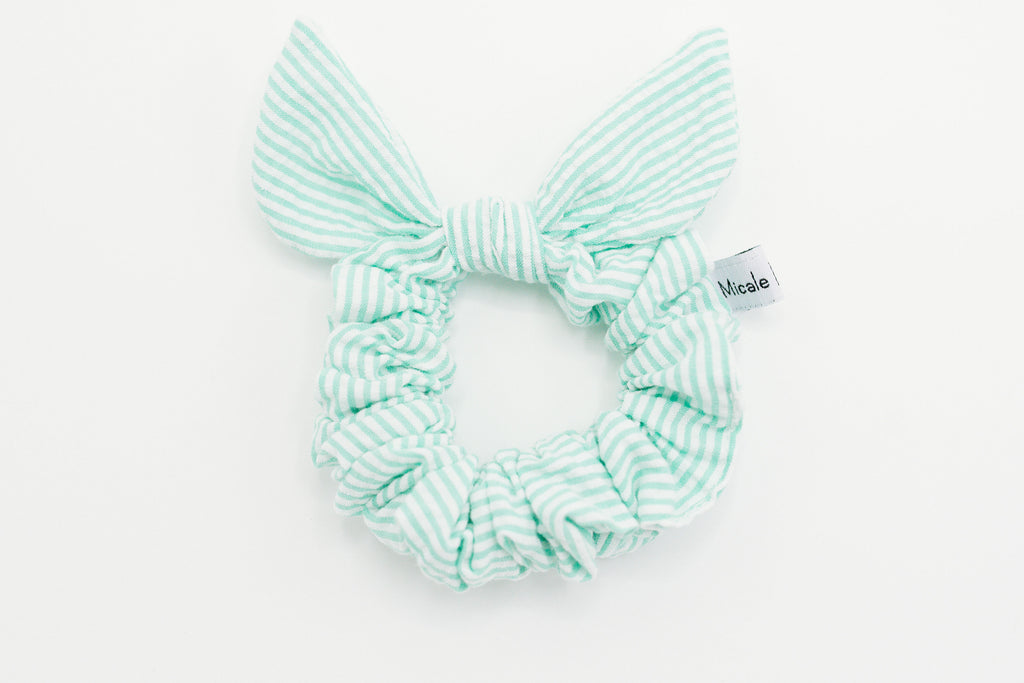 Mint Seersucker // Bow
