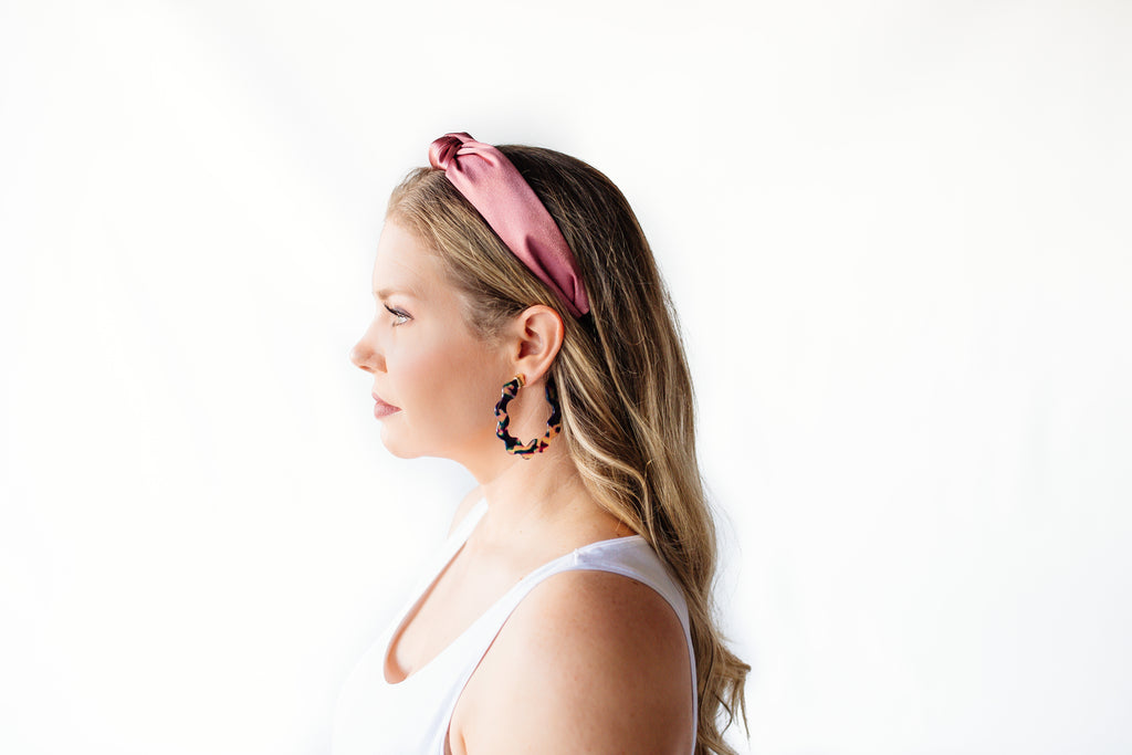 Rose Knotted Headband