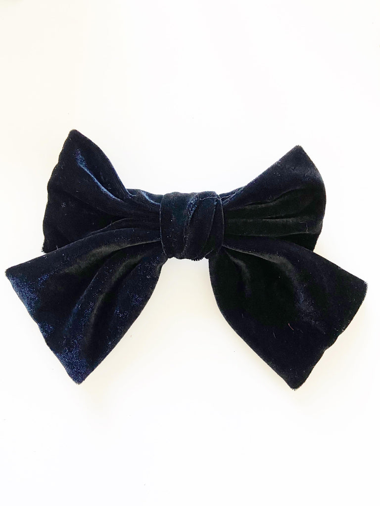Big Black Velvet Bow