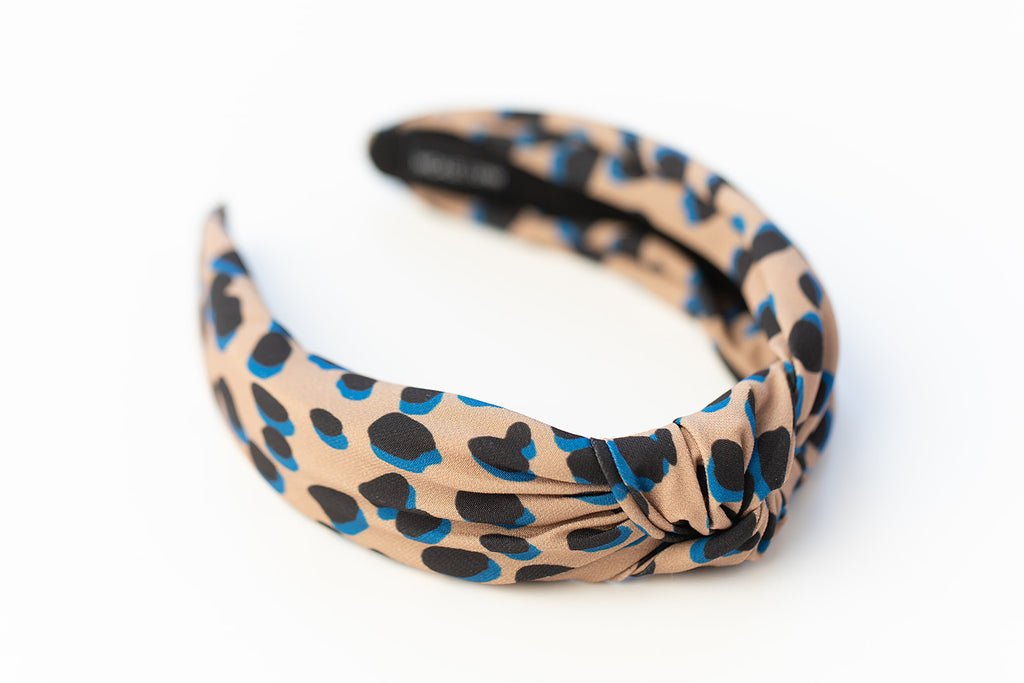 Tan Dot Knotted Headband