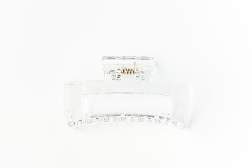 Clear Rectangle Claw Clip