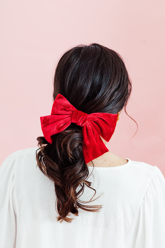 Big Red Velvet Bow