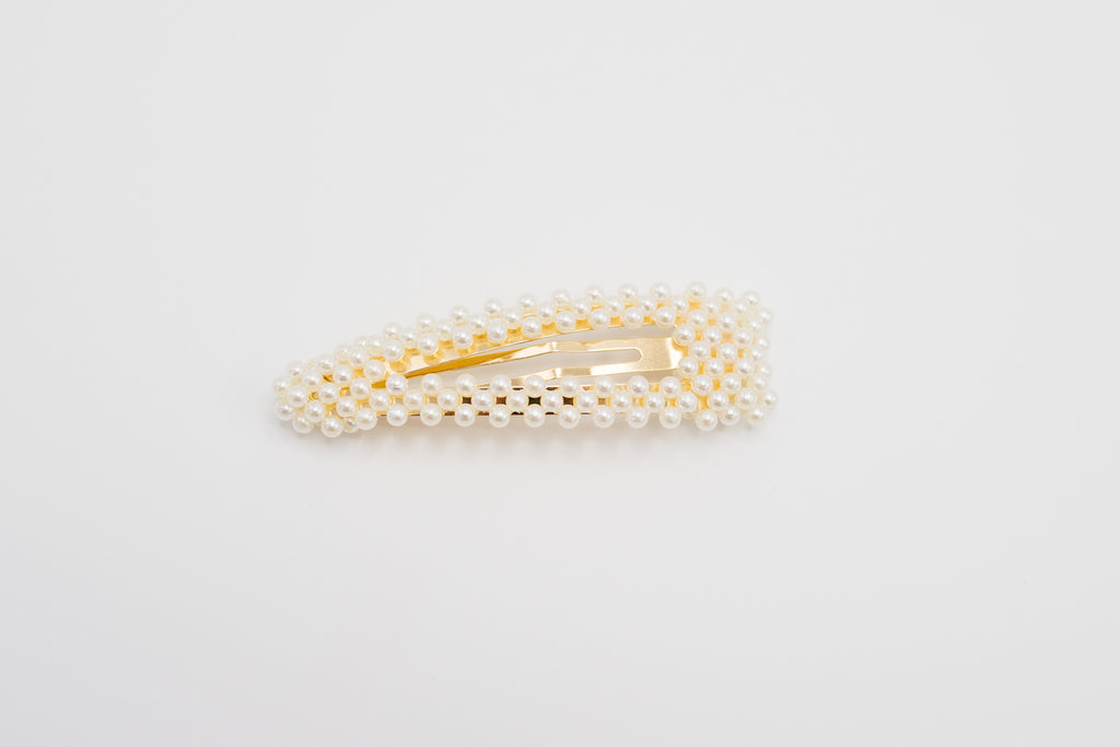 White Pearl Pointed Clip