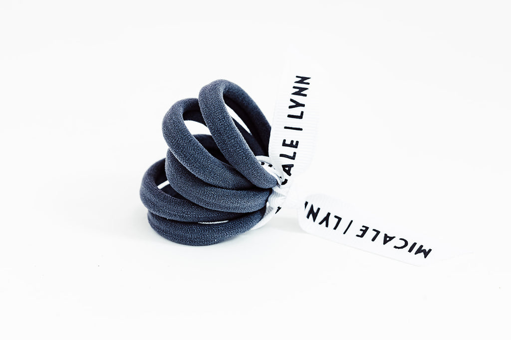 Charcoal Mini Ouchless Hair Ties