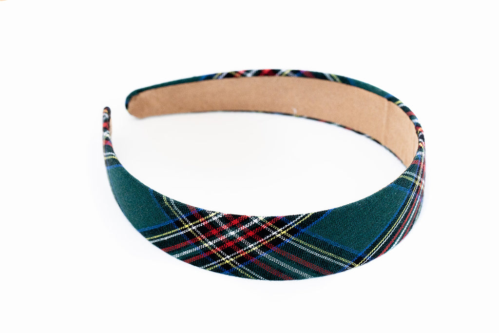 Preppy Green Plaid Headband