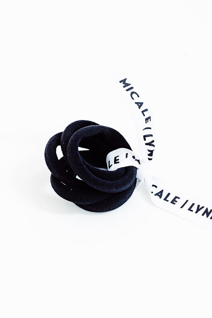 Black Mini Ouchless Hair Ties
